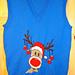 Christmas Rudolph Reindeer Tank Top / Sleeveless Jumper Knitting Pattern #15 pattern