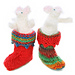 Christmas mousies in stockings pattern