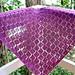 Easy garter stitch diamond lace shawl pattern