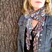 Lettie Crochet Leafy Scarf pattern