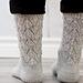 Garden View Socks Full Lace pattern
