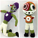 Zombie Football Player Dolls pattern