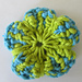 Splash of Colour Knit Flower pattern