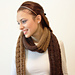 Two Tone Cable Scarf pattern