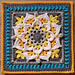 Felicitas Afghan Square pattern