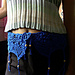 Square Motif Belt with Pineapple Fringes pattern