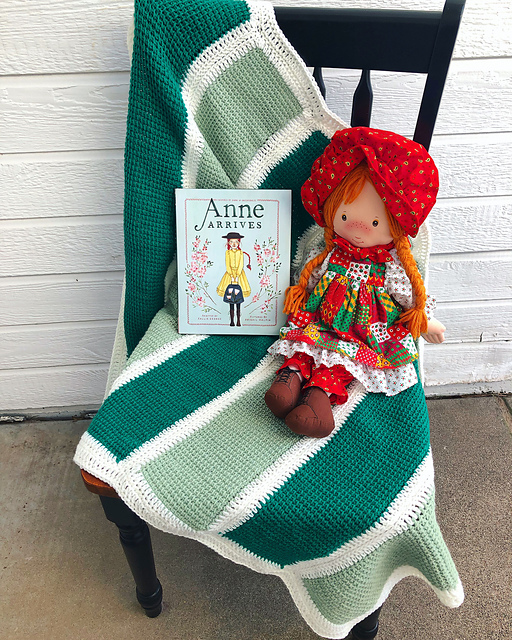 Green Gables Blanket by Jenny Galusha-Luna Kountingsheep