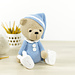 Sleepy Teddy in Pajamas and Bunny Slippers pattern