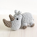 Small crocheted rhino pattern