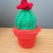 Cactus in pot pattern