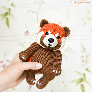 Rudy red panda amigurumi pattern by Sundot Attack | Amigurumi ... | 320x320