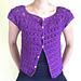 Puff Stitch Petals Cardigan pattern