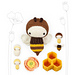 lalylala Honey Bee pattern