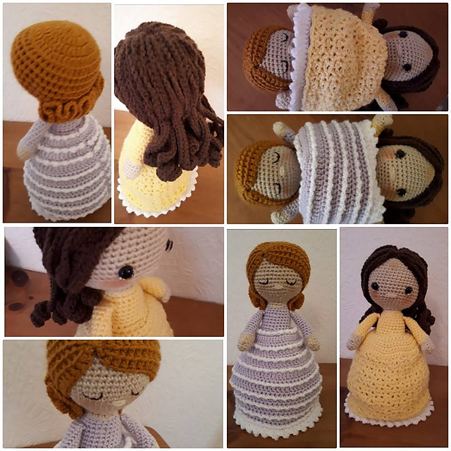 The Crafty Cattery: How To Make Amigurumi Hair: Wig Method | 640x640