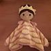 Medium Weebee Doll - Princess Lovey Blanket pattern