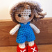 Weebee Pocket Paige Doll - Boys Hair & Outfit pattern