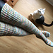 Brioche Topped Thigh High Socks pattern
