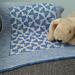 Blue Butterflies Mosaic Baby Blanket pattern