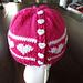 Girls Valentine Ponytail Hat pattern