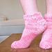 Bulky Toe-Up Socks for Magic Loop pattern