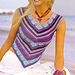 # 06 V-neck top with patterned stripes pattern