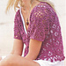 # 15 Kurzer Häkelpulli in Pink pattern