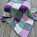 Furry Squares Blanket pattern