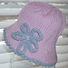 Baby Sun Hat with Whimsical Flower pattern