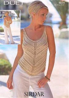 Sirdar Women/'s Top Knitting Pattern 8679