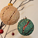 Christmas tree baubles pattern
