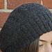 Reversible slouch hat in 2ply alpaca pattern