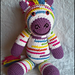 Riley the Rainbow Zebra pattern