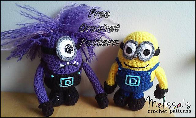 Little Yarn Friends • Crochet Pattern: Lil' Minion (Despicable Me)   386x640