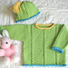 Seed & Cable Sweater Set (SW-006) pattern