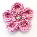 Curled Edge Crochet Flower pattern