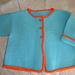 Garter stitch Jacket with Vent pattern