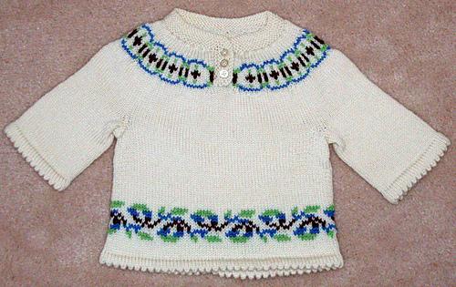 EZ baby yoke sweater