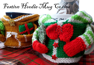 Gingerbread Man Right Handed Mug Cozy, Elf Right Handed Cozy