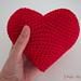 Heart amigurumi pattern