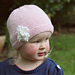 Amelia Hat with Flower pattern