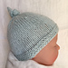 Baby Hat with Top Knot - Tegan pattern