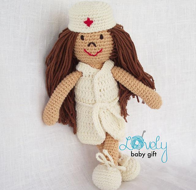Amigurumi Nurse Doll | Etsy | 621x640