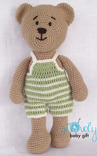 Free Teddy Bear crochet pattern - Amigurumi Today | 500x312