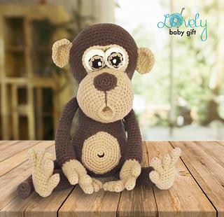 Crochet Happy Monkey in 2020 | Crochet monkey, Crochet monkey ... | 310x320