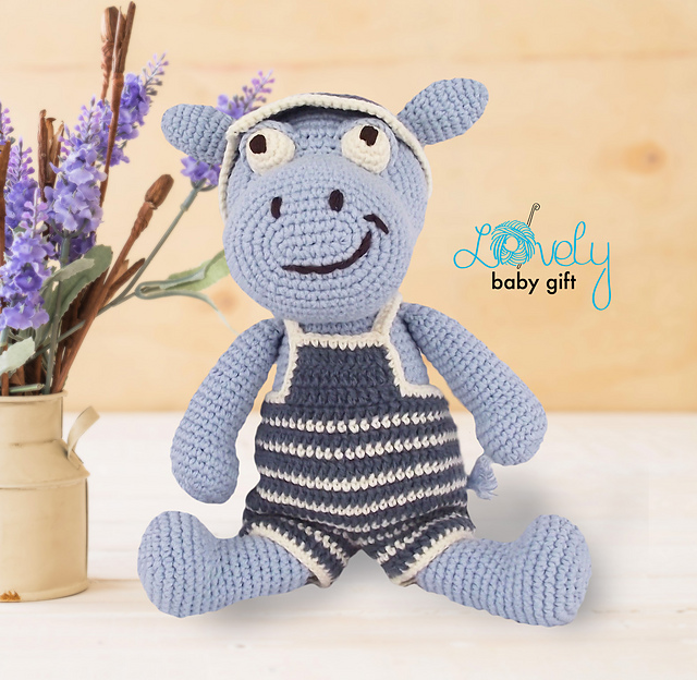 Harriet the Hippo Free Amigurumi Pattern | Jess Huff | 624x640