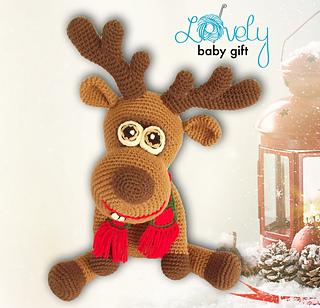 Christmas deer crochet pattern