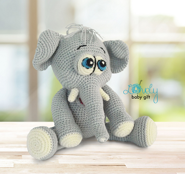 Pink crochet elephant pattern | Crochet elephant pattern, Crochet ... | 601x640