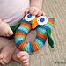 Stripey Owl Baby Rattle pattern