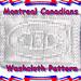 Montreal Canadiens Washcloth Knitting Pattern pattern