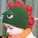 Dinosaur crochet beanie hat pattern